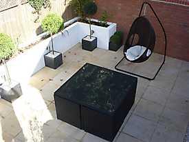 Decking Walls Garden Slabs Wicker_3