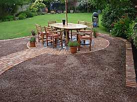 Garden Lawn gravel stone paving_3