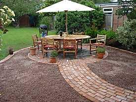 Garden Lawn gravel stone paving_4