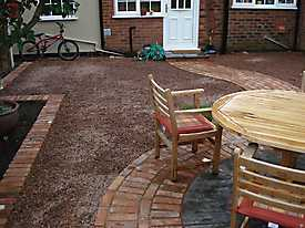 Garden Lawn gravel stone paving_7