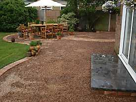 Garden Lawn gravel stone paving_8