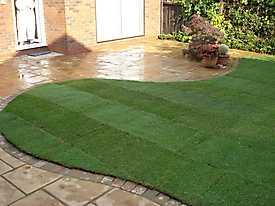 Stone Patio Lawn garden_2